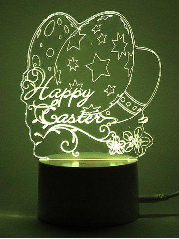 Outfit Easter Eggs LED Remote Control Color Change Night Light - TRANSPARENT  Mobile