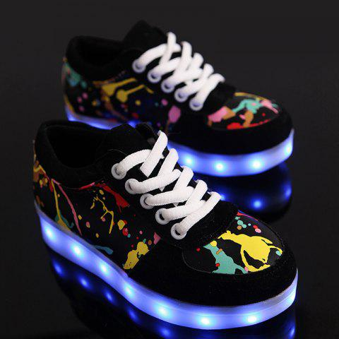 Outfit Led Luminous Multicolor Athletic Shoes - 37 BLACK Mobile