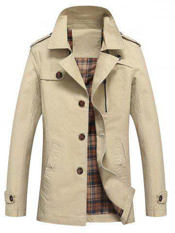 Outfit Button Up Notch Lapel Collar Jacket