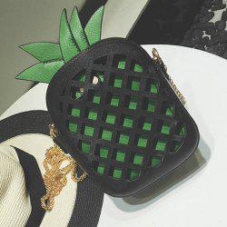 Pineapple Shaped Cut Out Crossbody Bag
