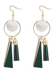 Tassel Circle Bar Drop Earrings
