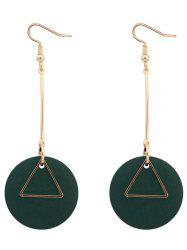 Round Triangle Drop Earrings