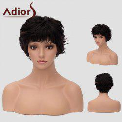 Adiors Short Curly Neat Bang Layered Cut Synthetic Wig
