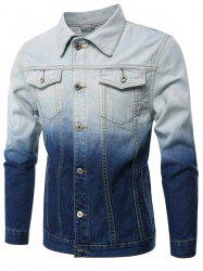 Gradient Color Denim Jacket