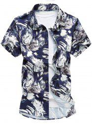 Short Sleeve Flower Print Shirt