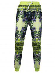 Flowers Printed Casual Jogger Pants