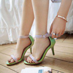Ankle Strap Color Block Sandals