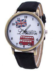 Londres Cartoon Bus Jean bracelet - Noir