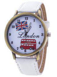 London Cartoon Bus Jean Strap Watch