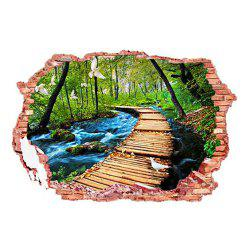 3D Stereo Removable Nature Landscape Living Room Wall Stickers