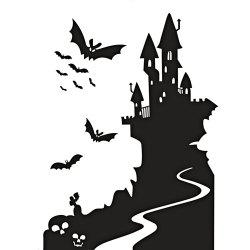 Removable Bat Castle Decorative Halloween Wall Sticker