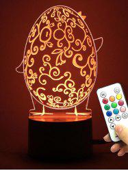Decor Easter Egg LED changement de couleur Table Night Light - Transparent