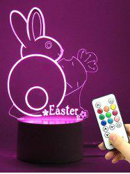 Easter Gift Color Changing Rabbit LED Night Light - TRANSPARENT