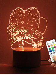 Easter Eggs LED Remote Control Color Change Night Light - TRANSPARENT