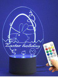 Easter Decor Egg Multicolor LED Remote Control Night Light - TRANSPARENT