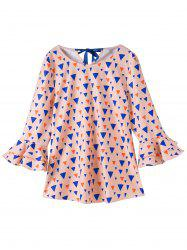 Print Chiffon Plus Size Top