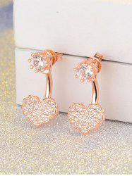 Rhinestone Heart Ear Jackets