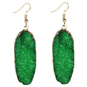 Fake Gemstone Drop Earrings -