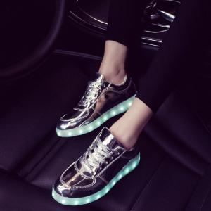 Cuir verni Led Chaussures Luminous -