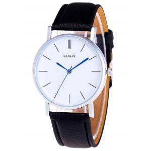 Faux Leather Strap Analog Watch