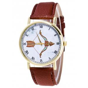 Cartoon Arrow Roman Numerals Analog Watch