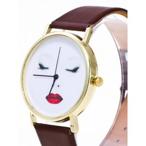 Beauty Face Faux Leather Analog Watch -