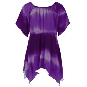 Plus Size Empire Waist Butterfly Sleeve Blouse -