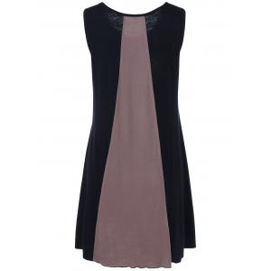 Sleeveless Color Block Mini Casual Dress Fashion - COLORMIX XL