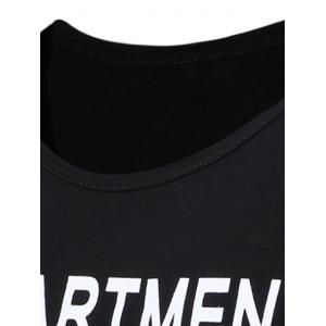 Two Tone Department Printed T-Shirt - GRIEGE 3XL
