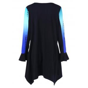 Plus Size Ombre Long Sleeve Tunic -