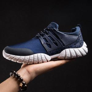 Stitching PU Leather Athletic Shoes -