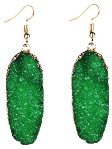 Chic Fake Gemstone Drop Earrings