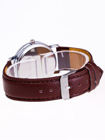 Buy Faux Leather Strap Analog Watch - BROWN  Mobile