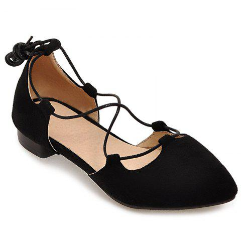 Latest Lace Up Pointed Toe Flat Shoes