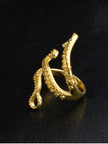 Shops Alloy Octopus Tentacles Ring - ONE-SIZE GOLDEN Mobile