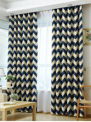 Wave Stripe Full Sun-Shading Window Blackout Curtain