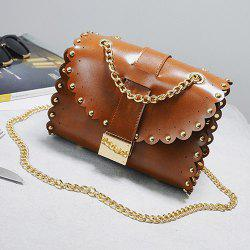 Scalloped Rivet Mini Cross Body Bag