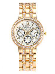 SOUSOU Steel Strap Rhinestone Analog Watch