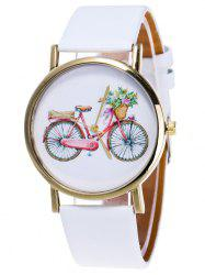 Cartoon Bike Pattern Analog Watch