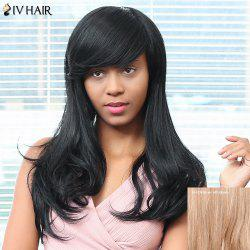 Siv Hair Side Bang Long Straight Human Hair Wig