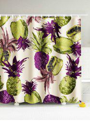 Tropical Pineapple Water Resistant Shower Curtain