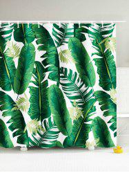 Palm Tree Water Resistant Shower Curtain - LEAF GREEN