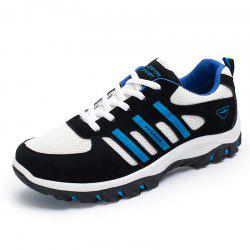 Colour Block Breathable Athletic Shoes - BLUE