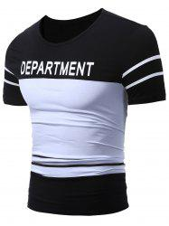 Two Tone Department Printed T-Shirt -