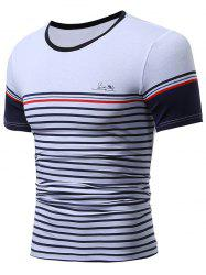 Short Sleeve Stripes Tee