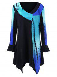Plus Size Ombre Long Sleeve Tunic