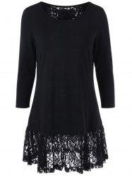 Lace Back Long Sleeve Tunic
