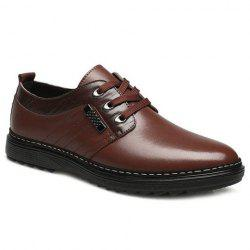 Tie Up Faux Leather Casual Shoes