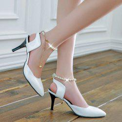 Slingback Faux Pearls Pumps