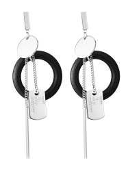 Circle Bar Earrings -